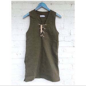 Sincerely Jules Drew Lace Up Sleeveless Dress